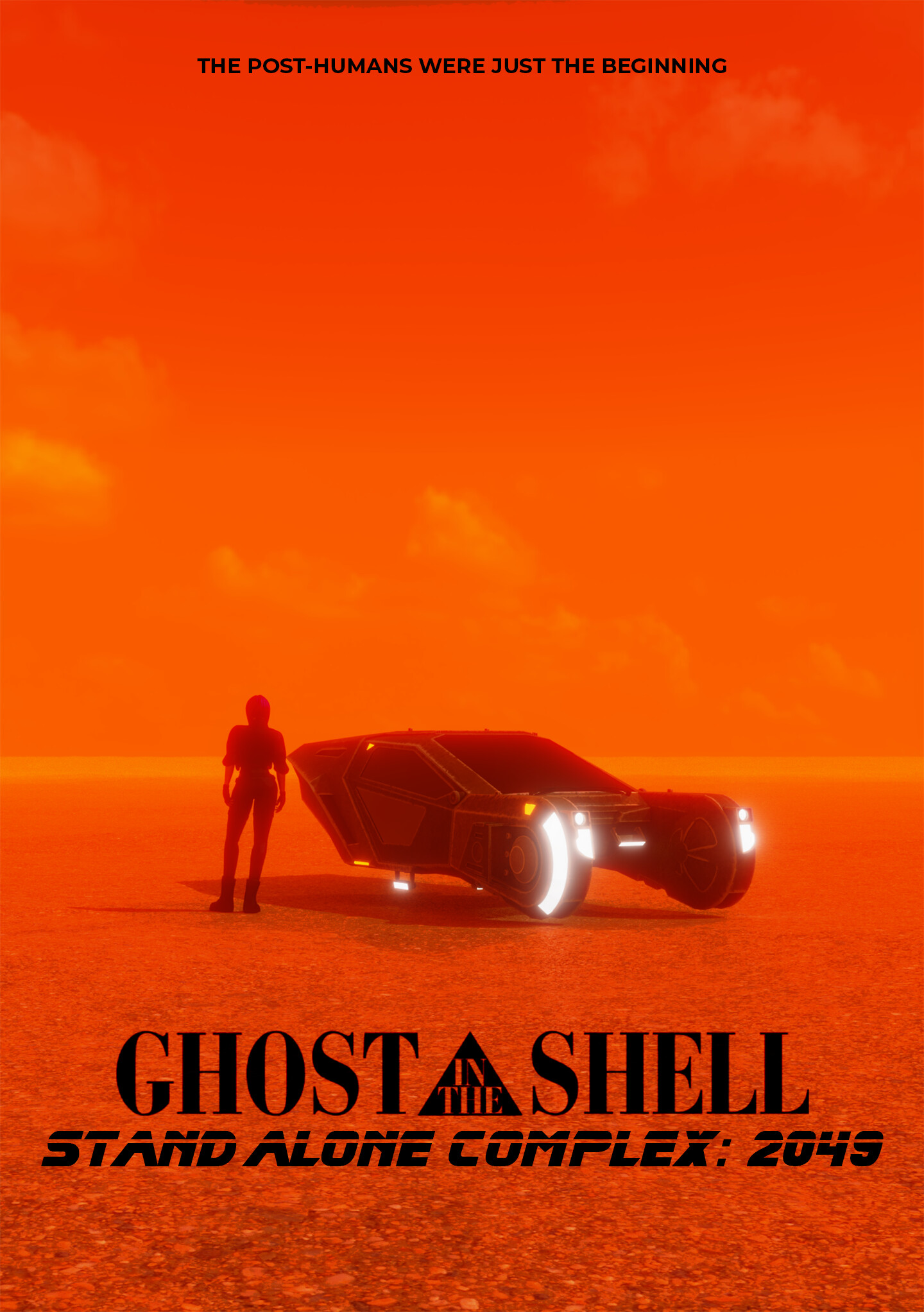 Artstation Fan Poster Ghost In The Shell Stand Alone Complex 2049 Farras Raihan Syafiq