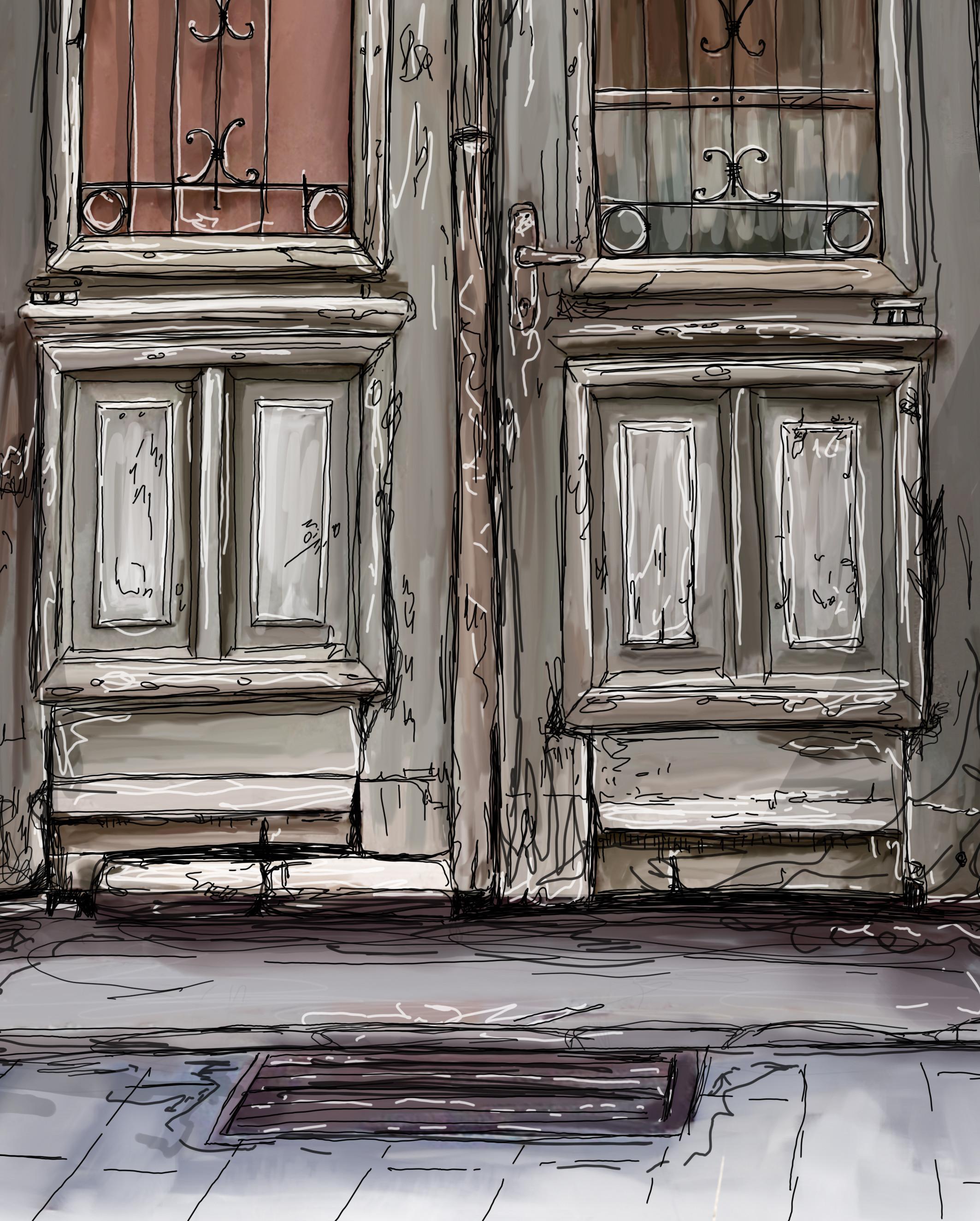 close-up bottom of the door