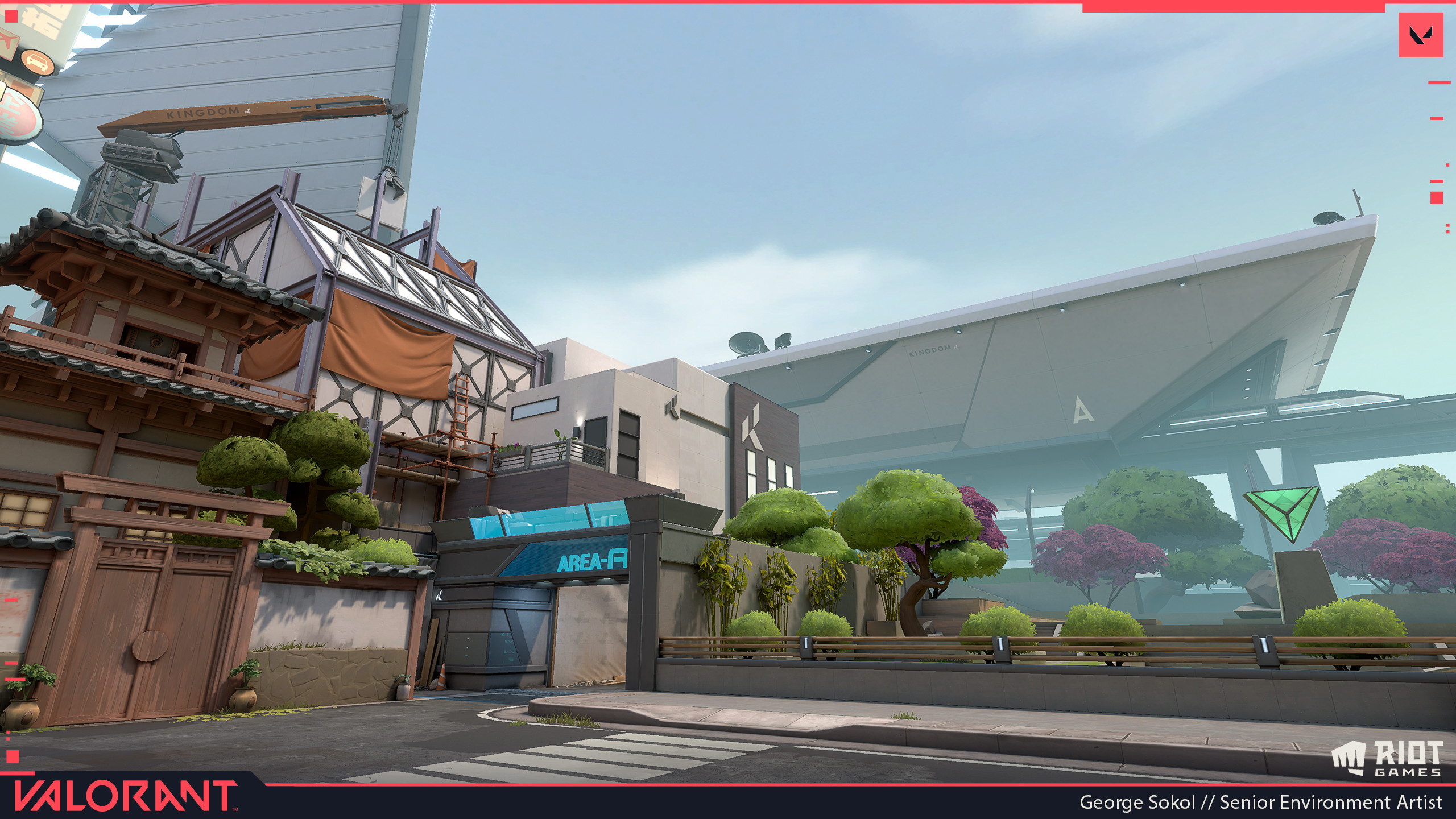 Attacker Spawn - I worked on the construction building and the large train station in the vista