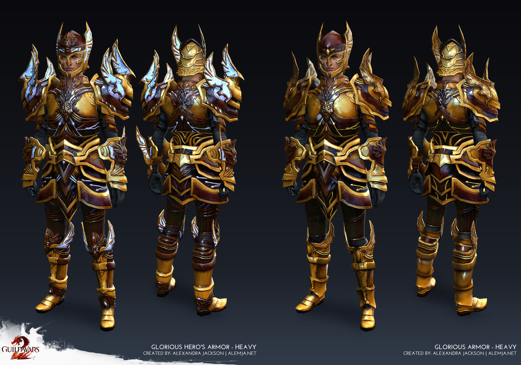 Worked on the armor game ready model and texures. I made sure as much as possible was reused as possible between the 2 tiers. This set was added as a reward tier for PvP