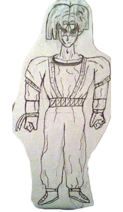 Old sketch of teenage Kaiel