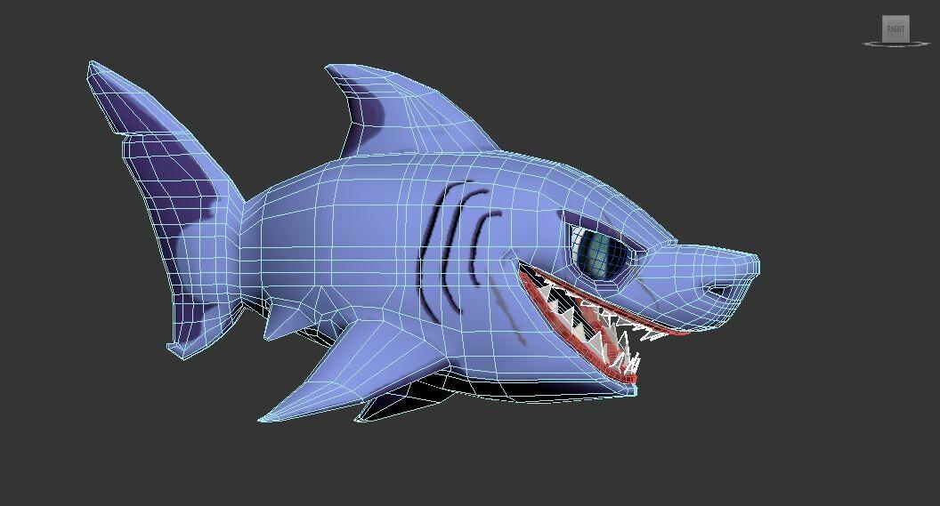 Shark low poly
