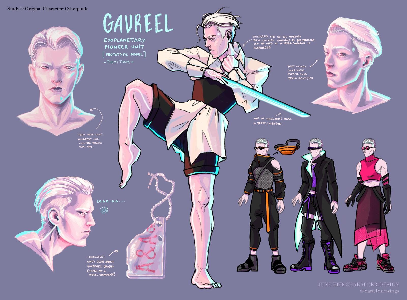 Gavreel - Cyberpunk RPG character art