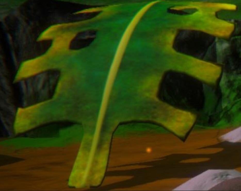 Giant Leaf In Game
