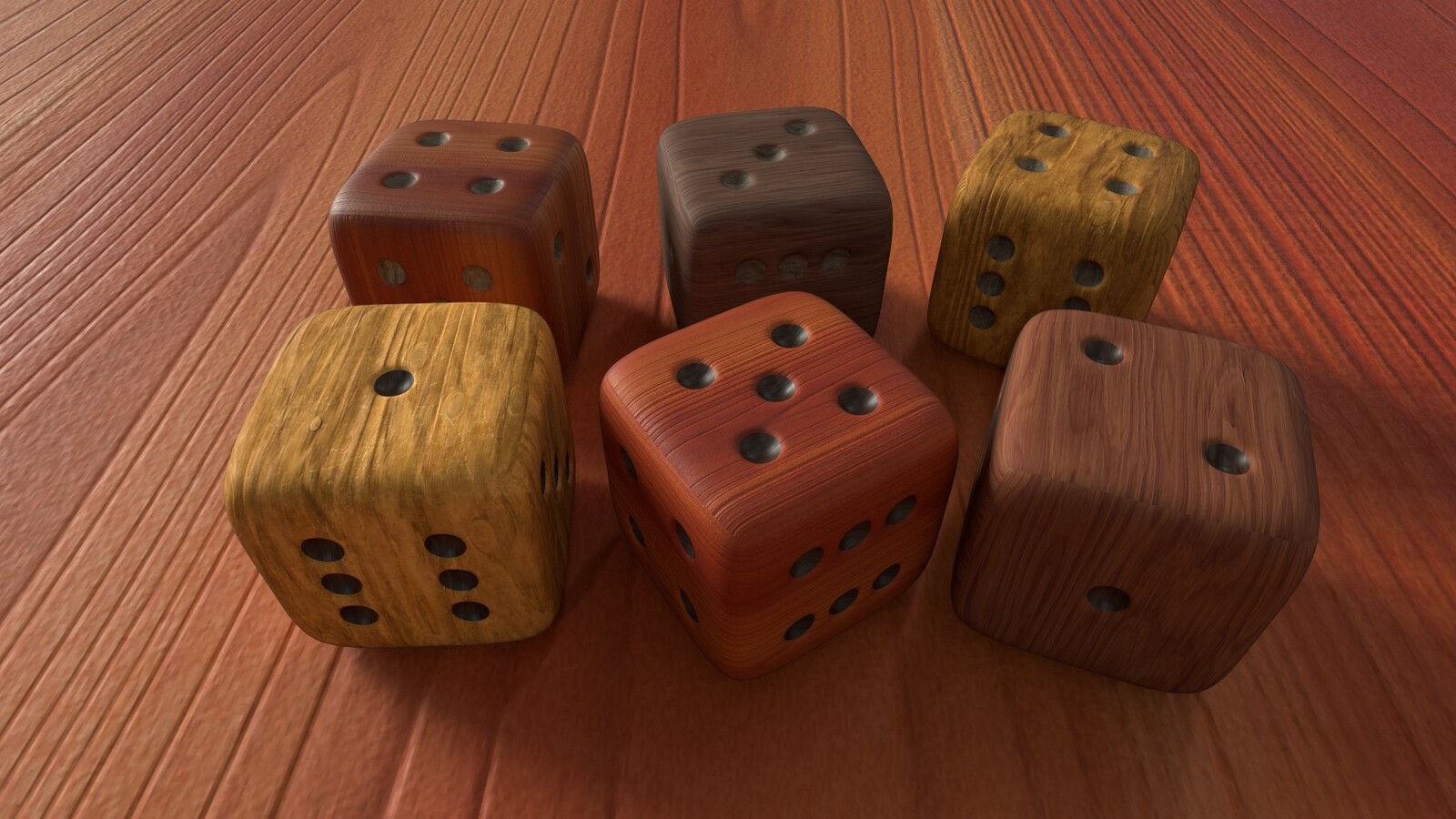 Wood Dices