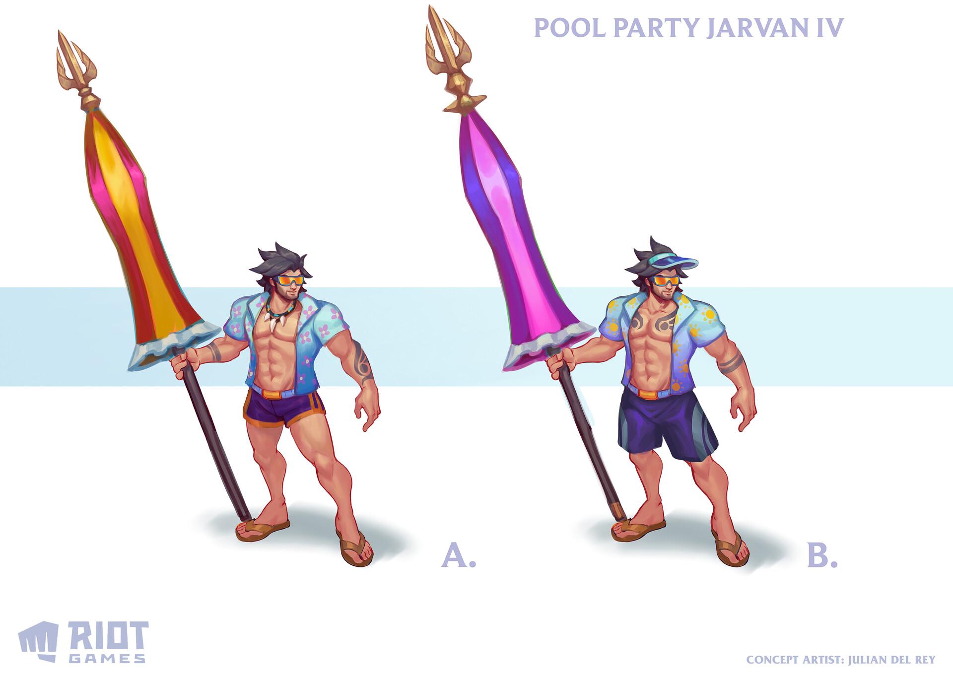 Pool Party Jarvan concept proposals ©Riot Games