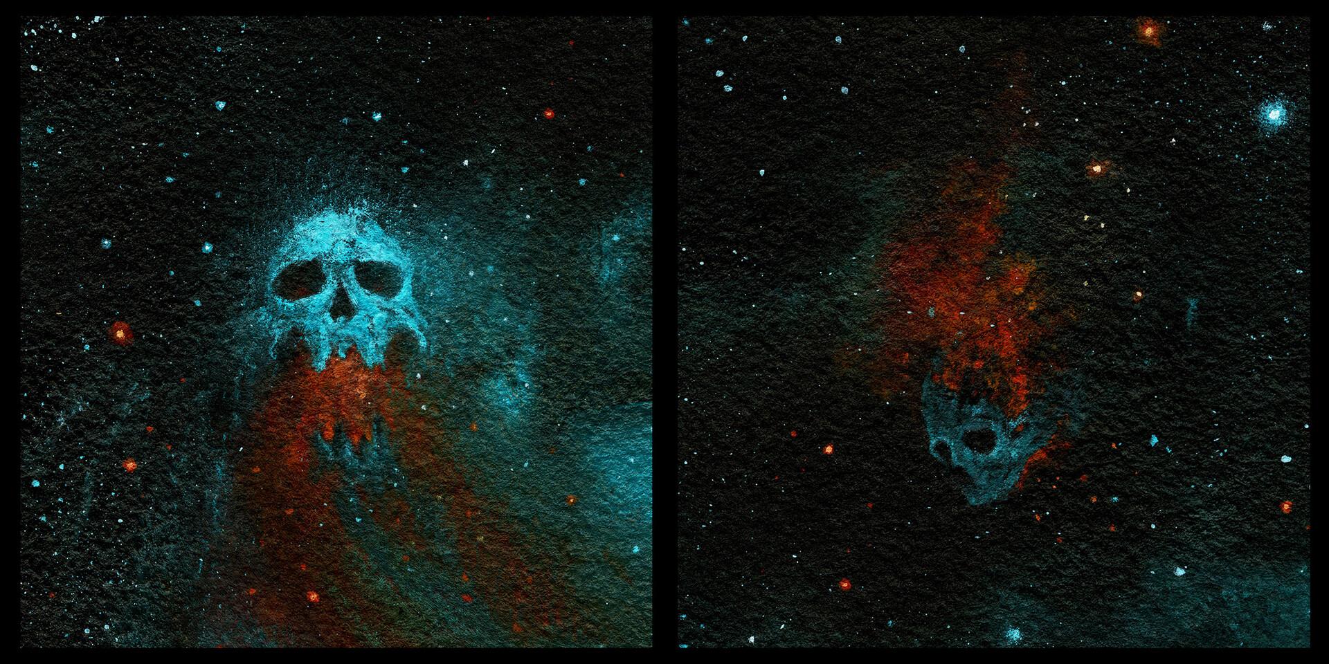 Cosmic skull Acrylic pin