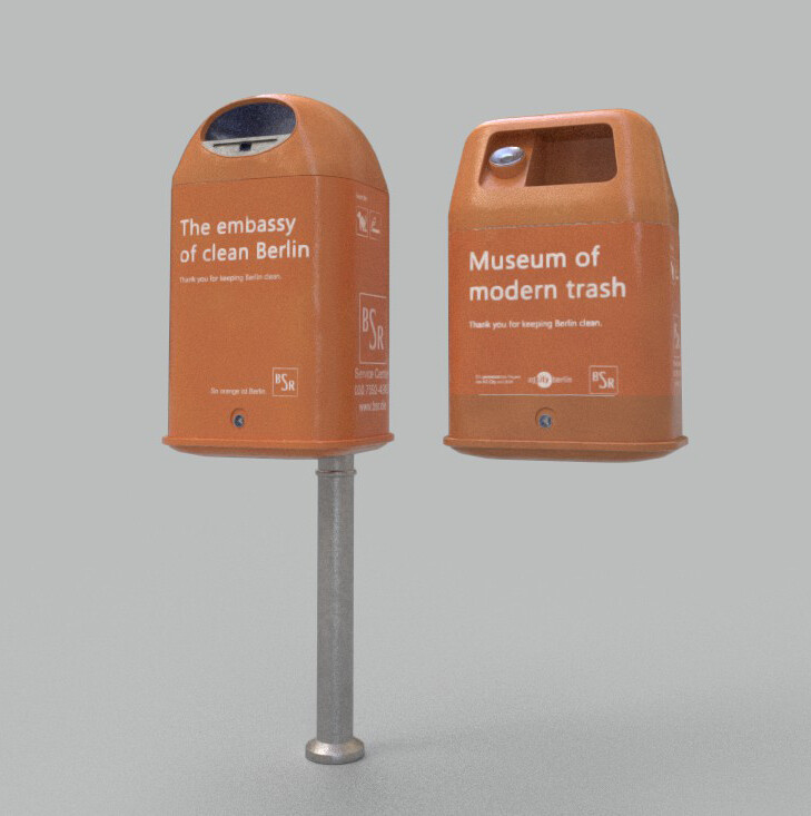 Berlin Trash Bin Clean Render