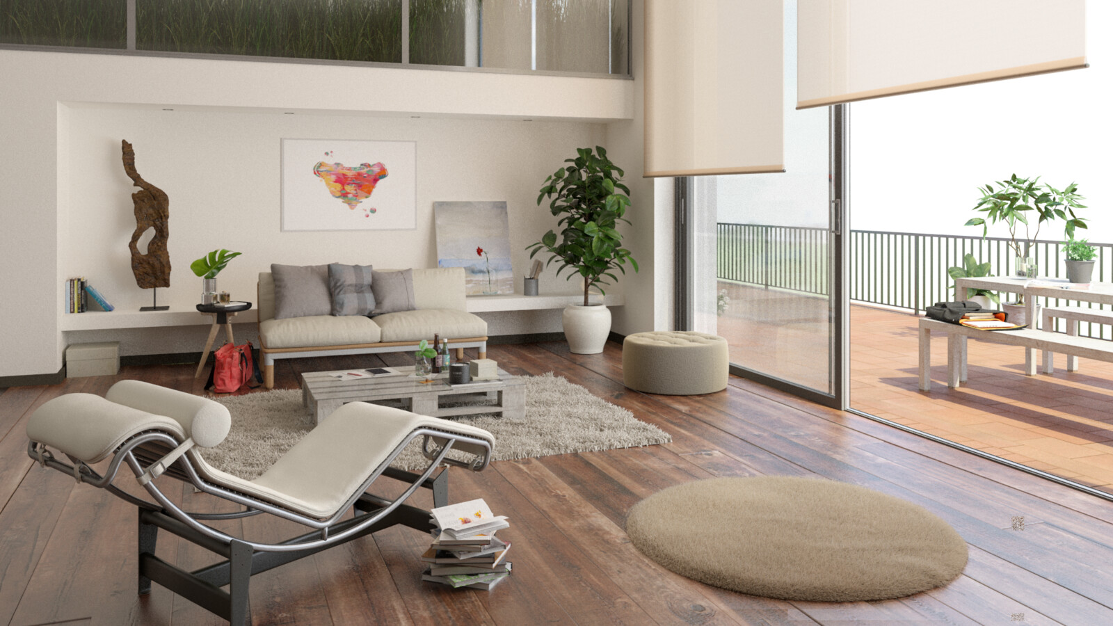 Interior Render - the assets & materials are not made by myself -