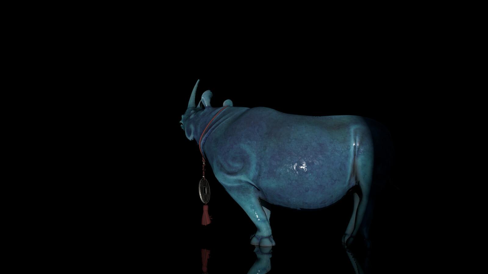 Rhino Figurine Klara Render