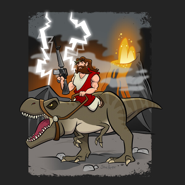 Jesus Riding a Dinosaur (2020) Buy it: https://rdbl.co/2ZT44XQ