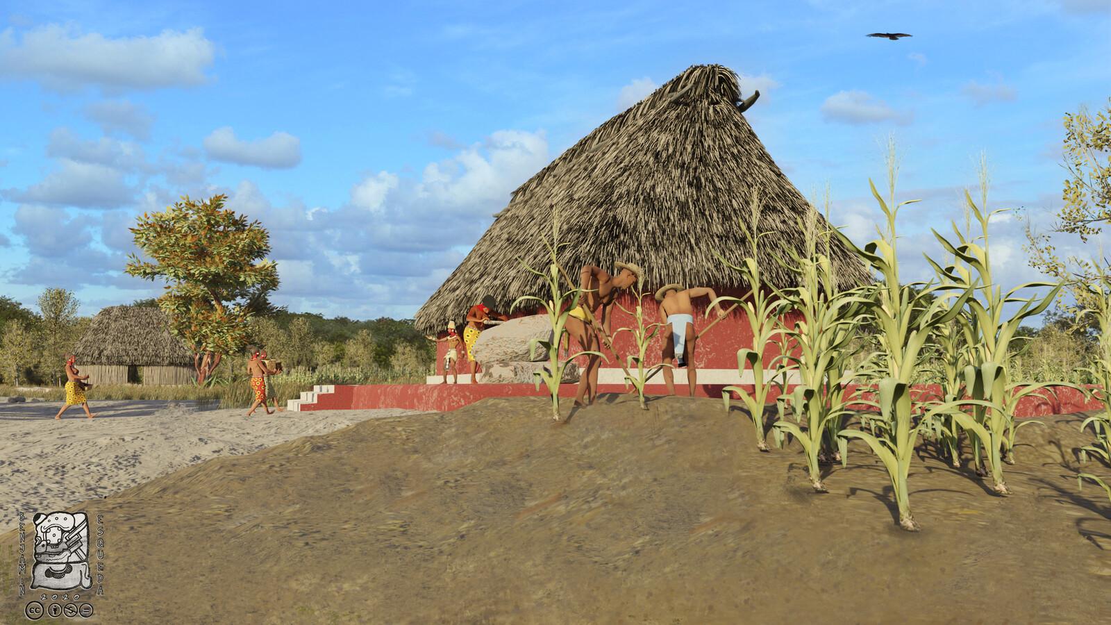 Es interesante comentar que el sitio cercano más grande a SN-275 fue Komchén. En contraste, Komchén presenta un sacbe, arquitectura monumental y un área de 200 hectáreas con diversos estilos arquitectónicos.