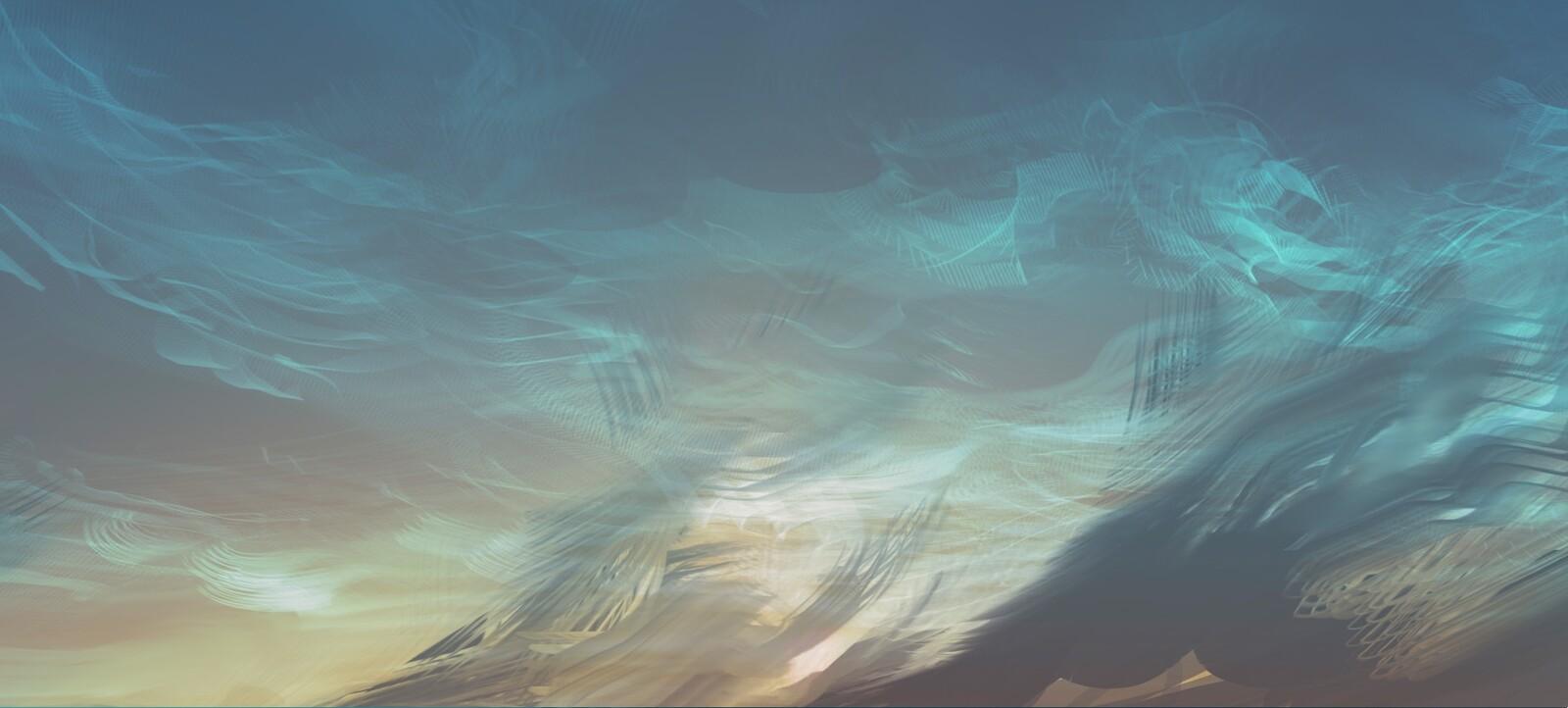 just below horizon - detail4 noctilucent clouds