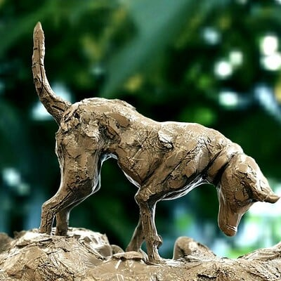 Surajit sen browny digital sculpture surajitsen jul2020a