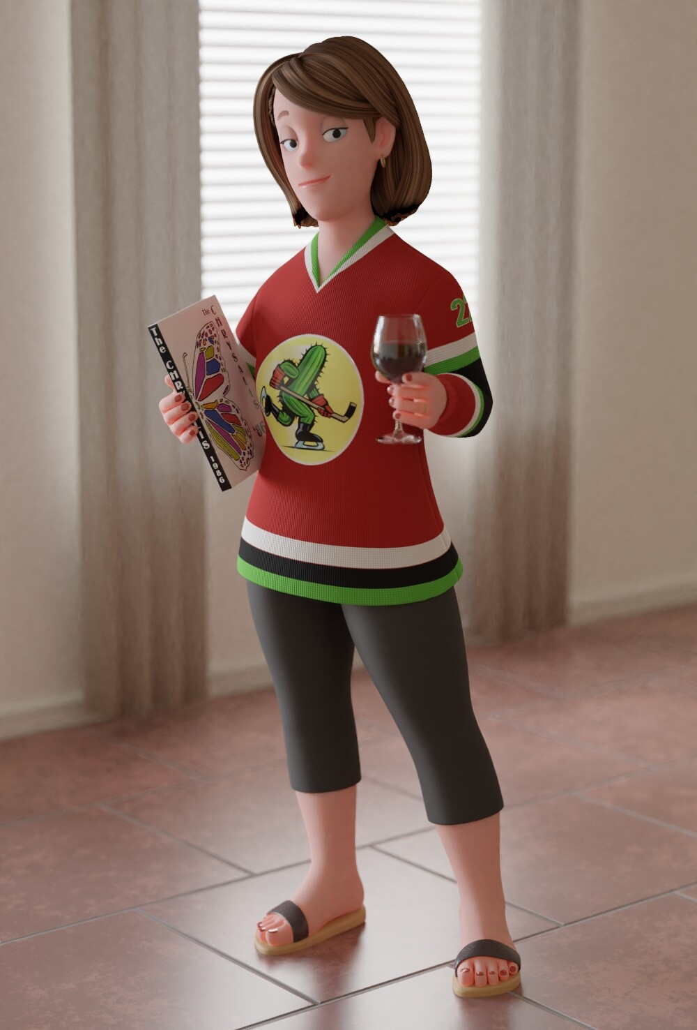 Angie, a 3D version of a character from my webcomic, MAN BAND.