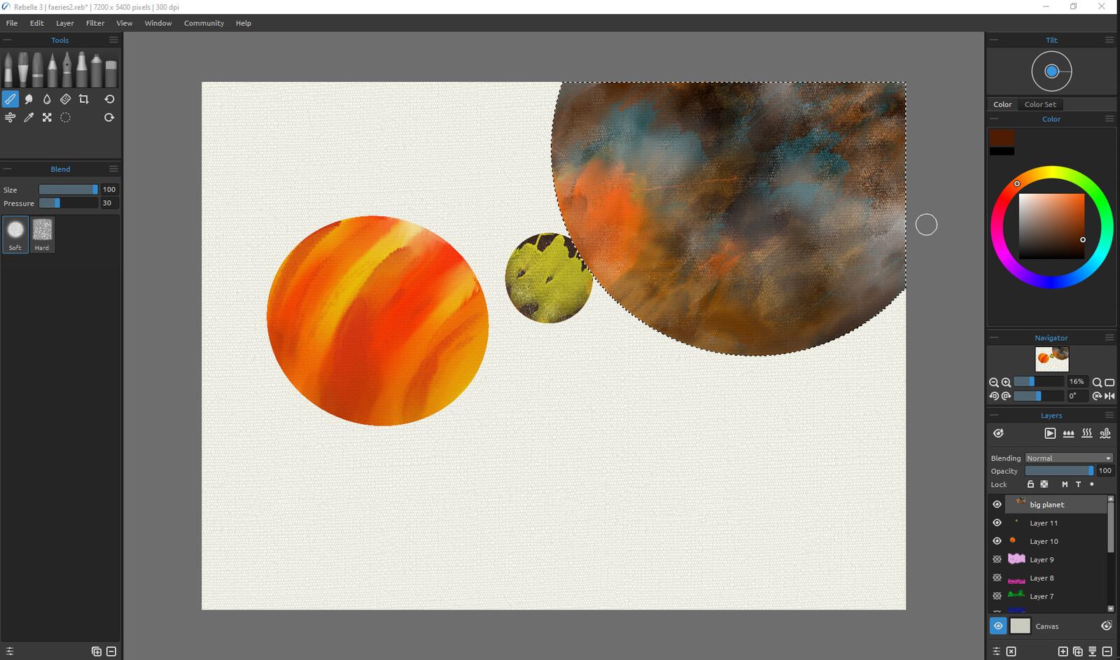 Watercolor in Rebelle 3