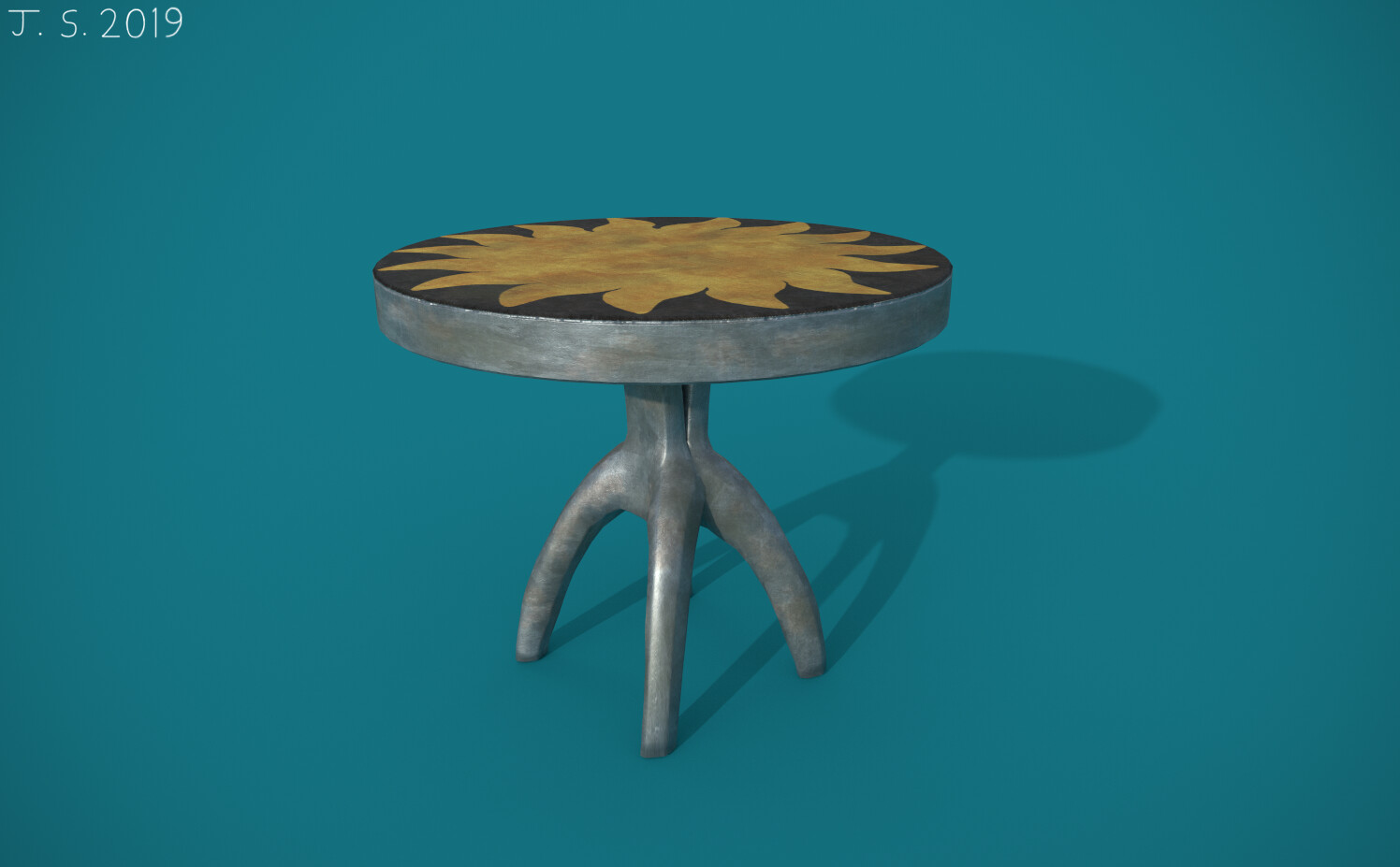 Aztec-Styled Table Substance Painter Render