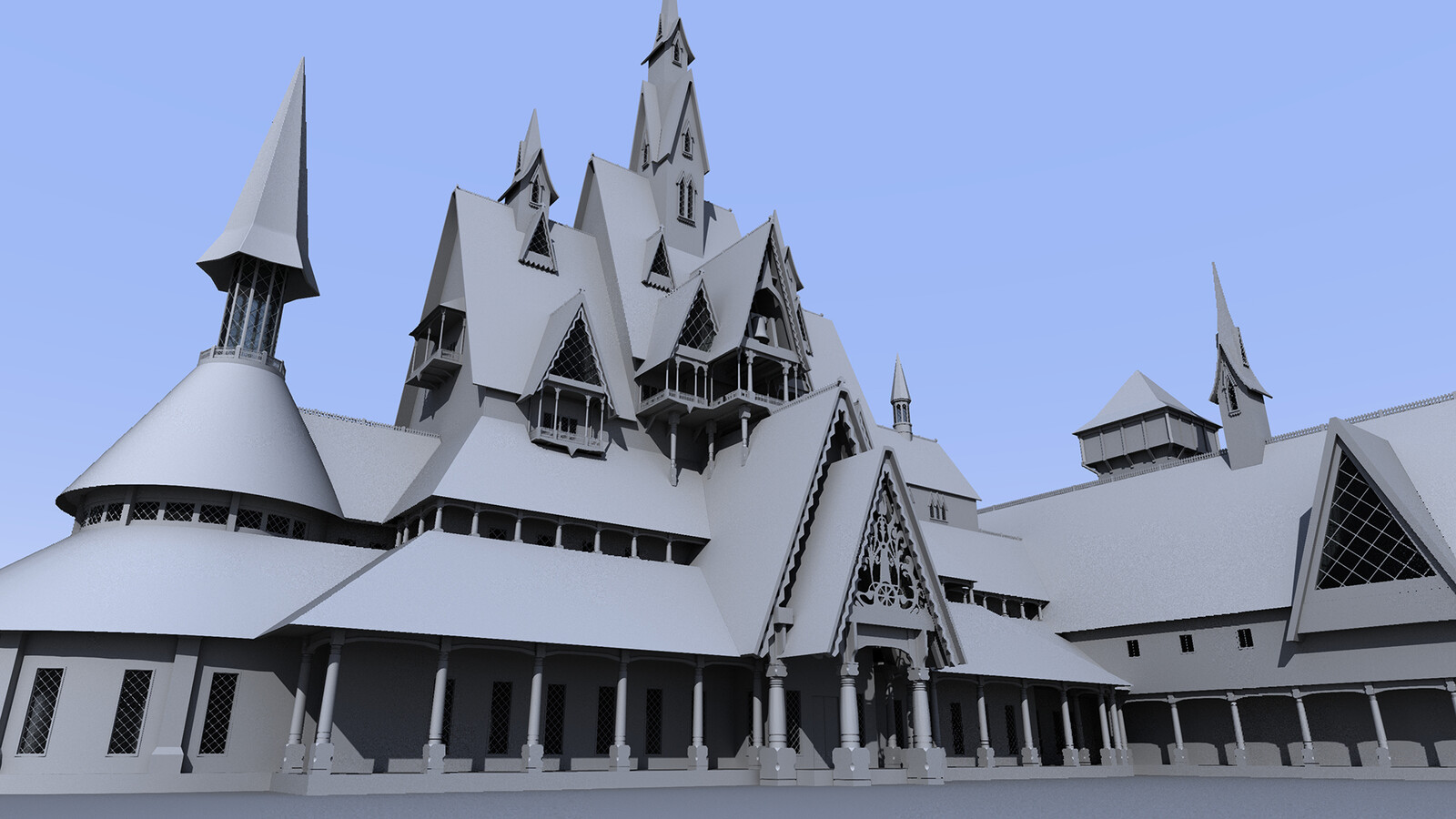 Arendelle - Side building and detail added