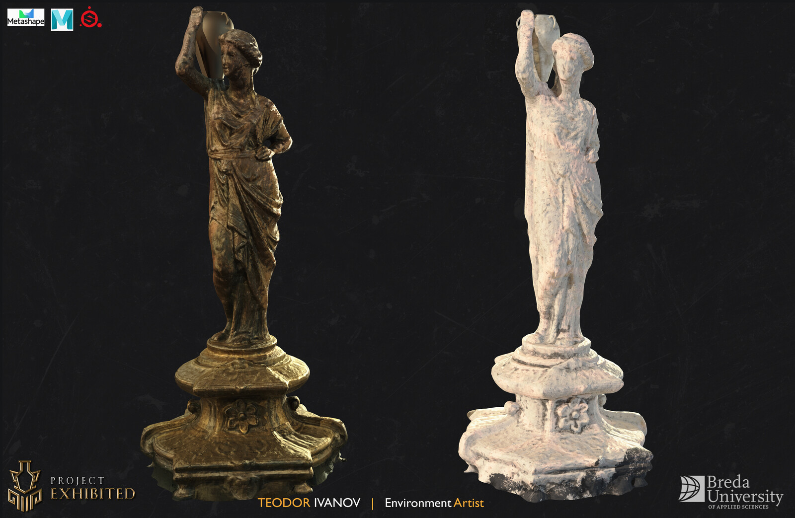 Left - Photogrammetry, Right - Photogrammetry + SP (Photos from a phone).