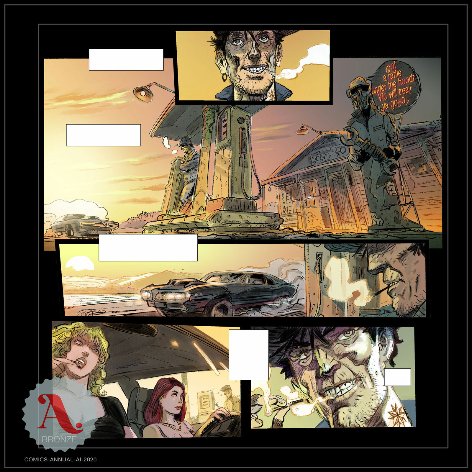Megadeth: Death By Design - The Mechanix (Bronze Medal Comic Category award at A:I: Annual 2020)