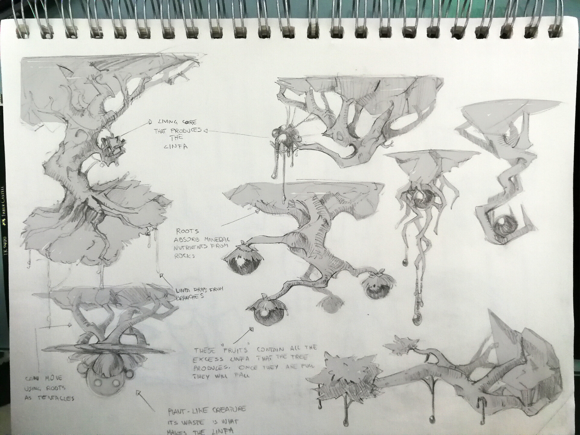 exploration sketches for the tree