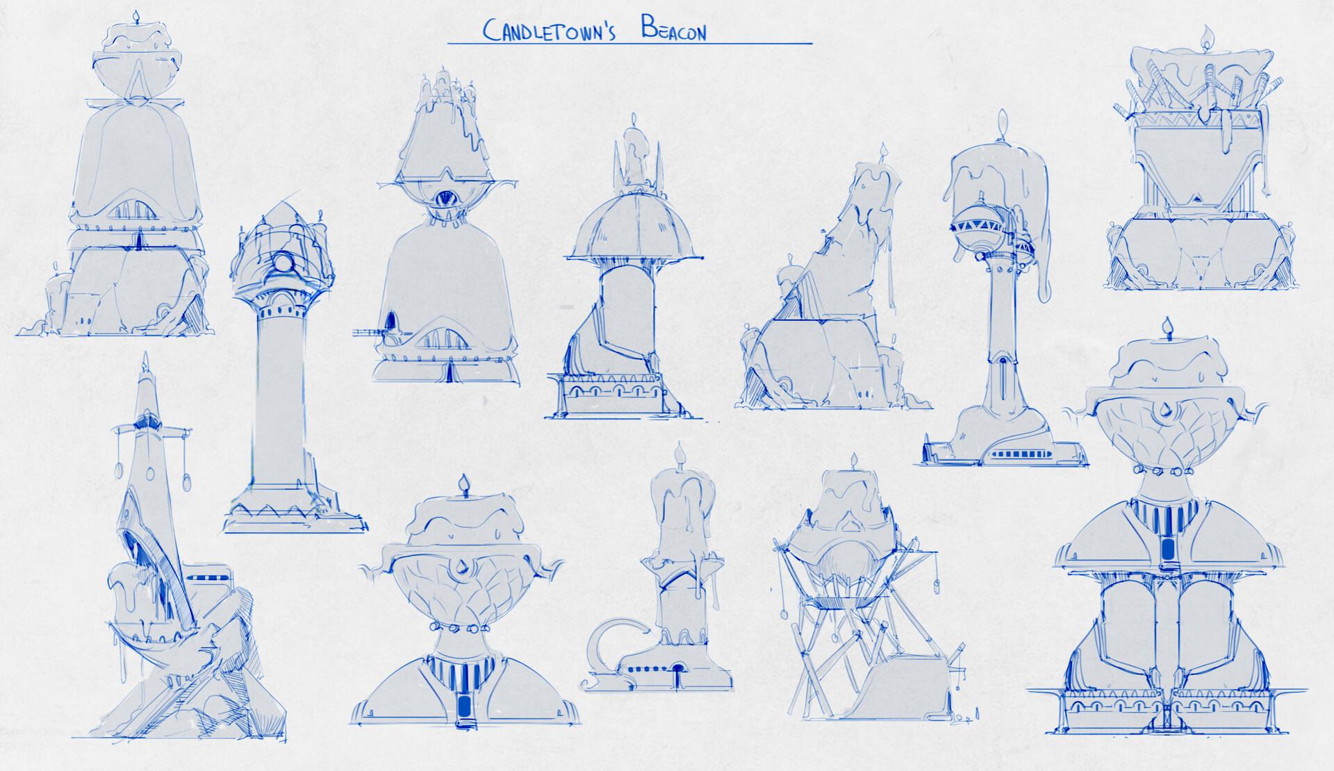 Beacon exploration sketches