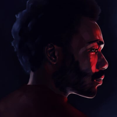 Lee bryan donald glover painting by l bryan july 2020 sml