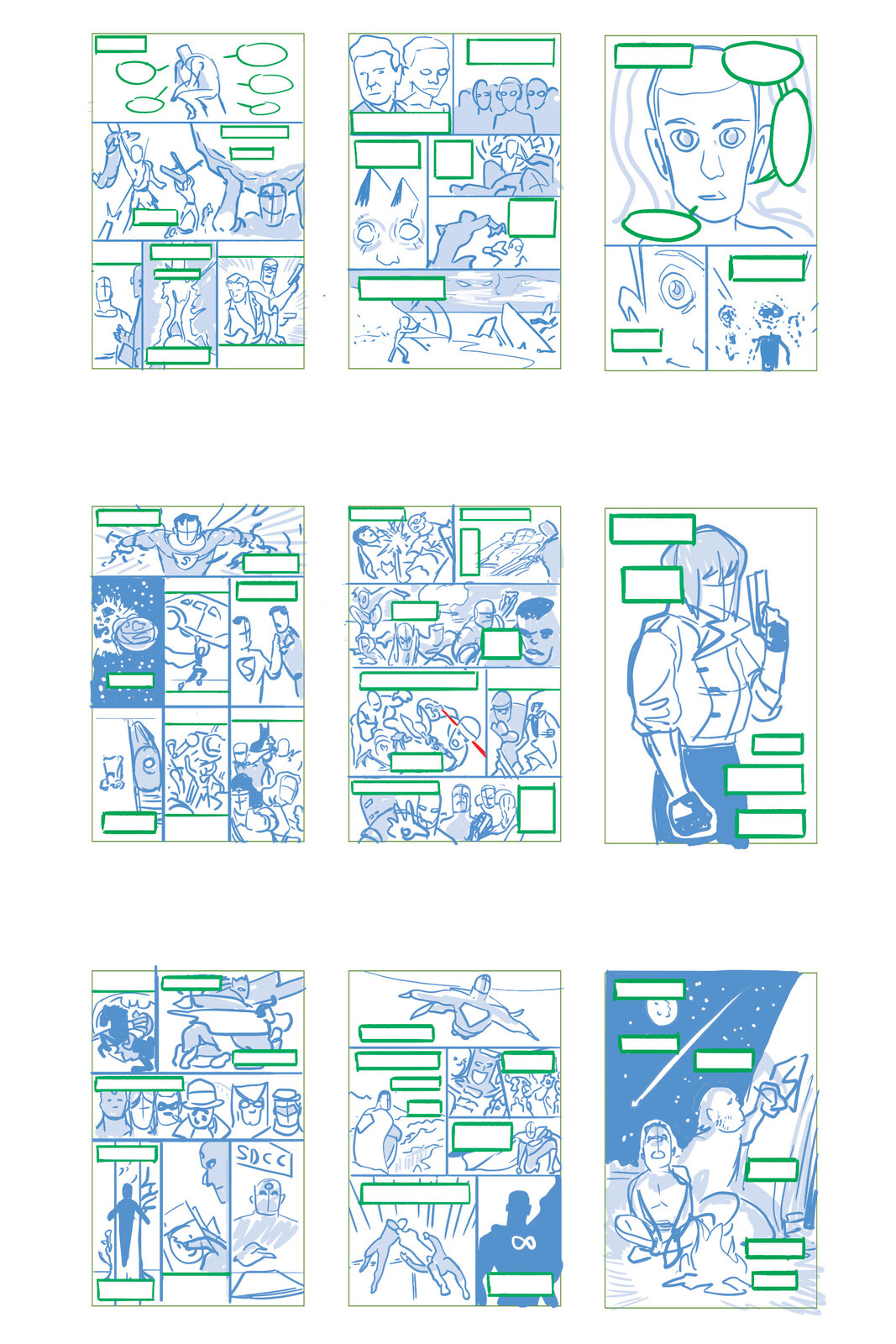 Layout Roughs 10-18