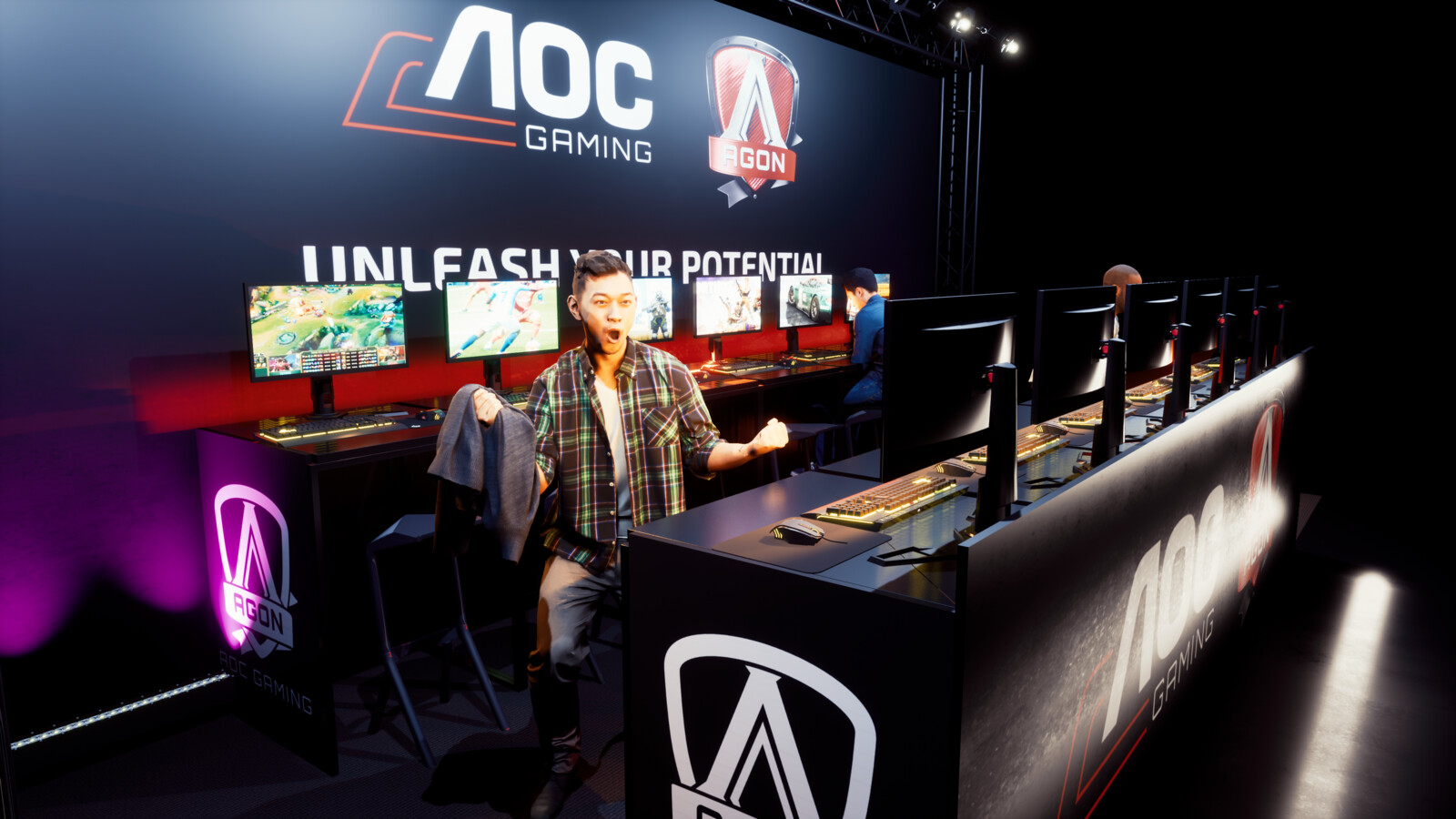 AOC Gaming Booth Concept