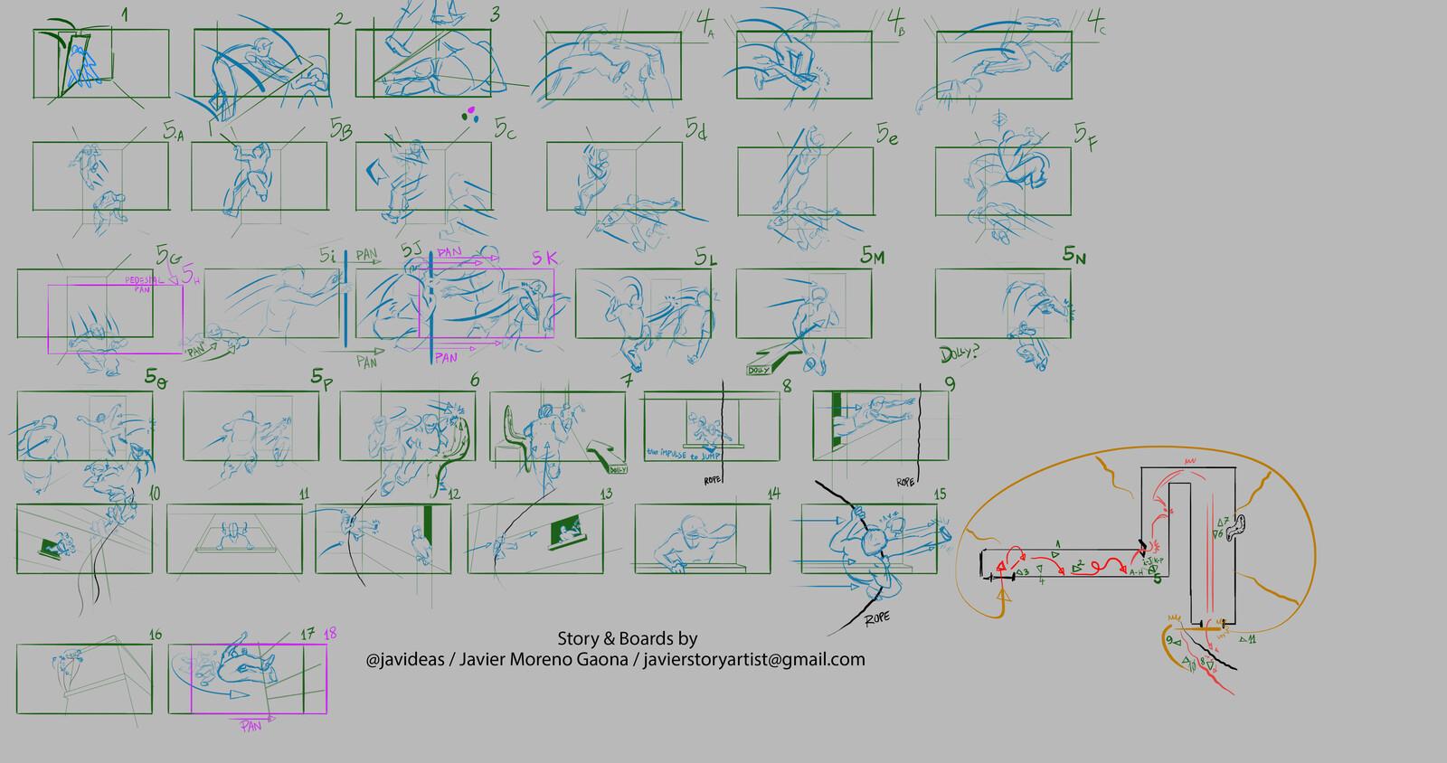 My original study on the Chase scene