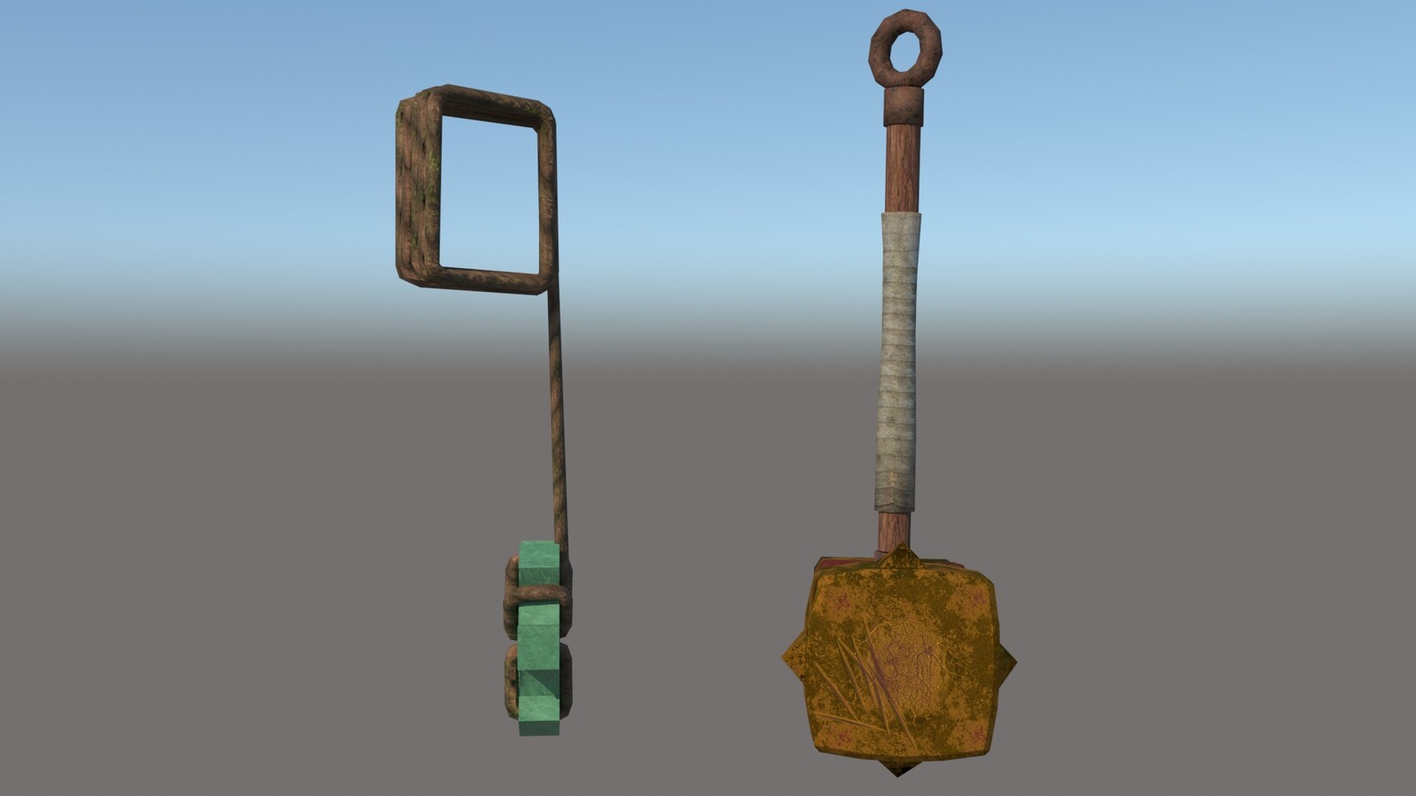 Cael Hammer and Pendulum of the Kid (for the game Bastion)