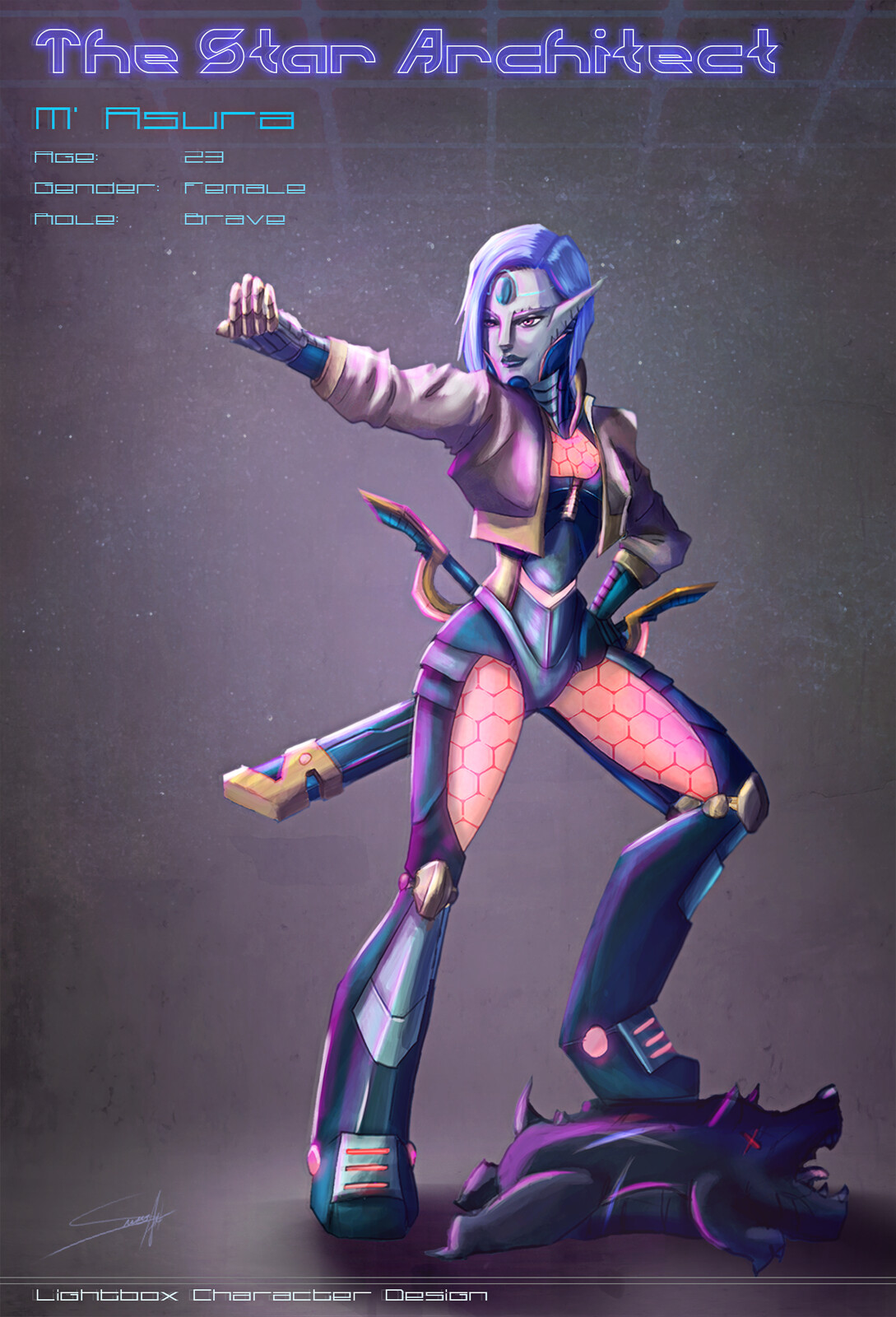 M' Asura - The Alien Soldier Brave Character