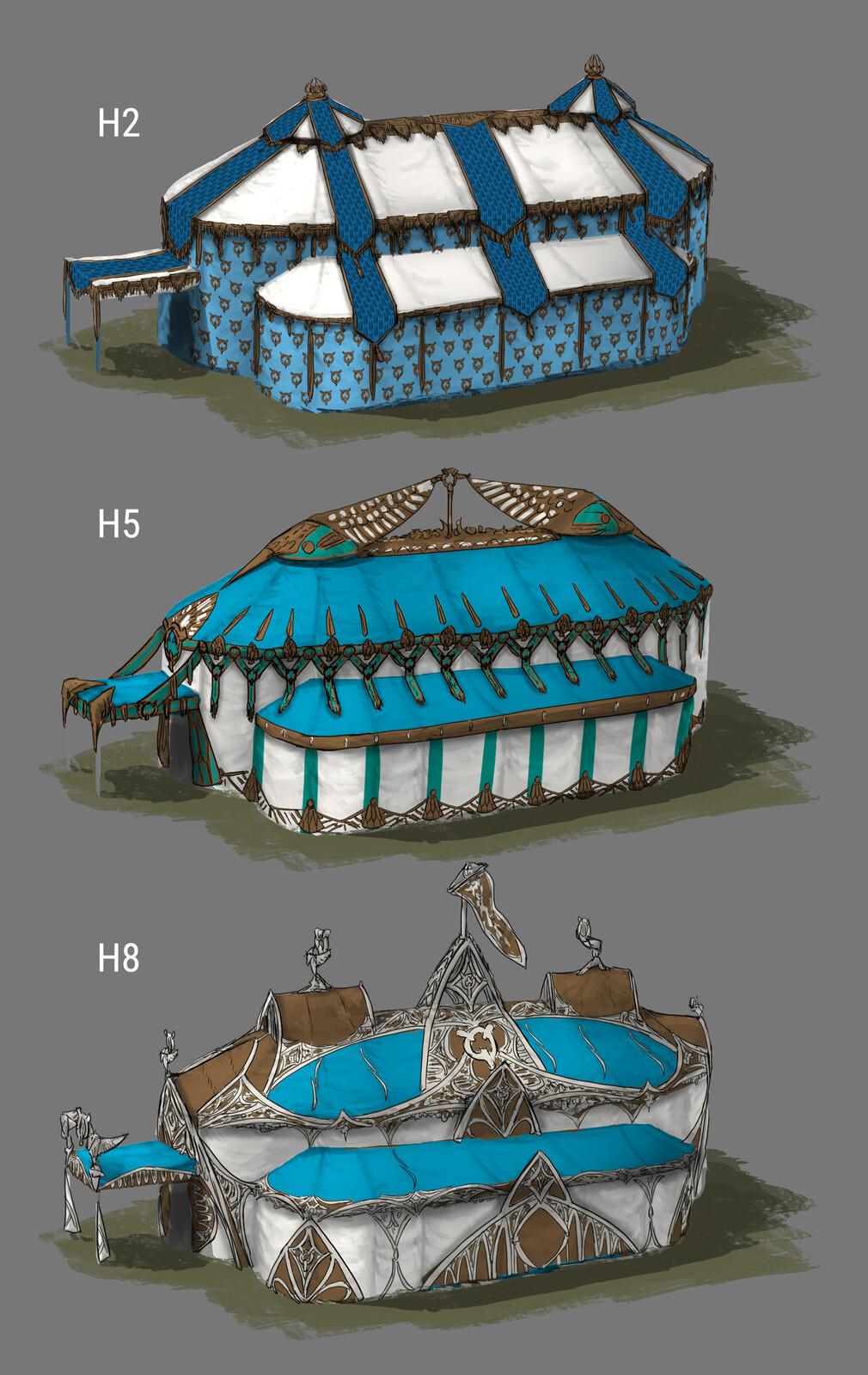 Design variations tent exterior 02