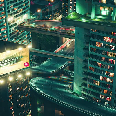 Trackmania 2 : Lagoon City By Night With Ads