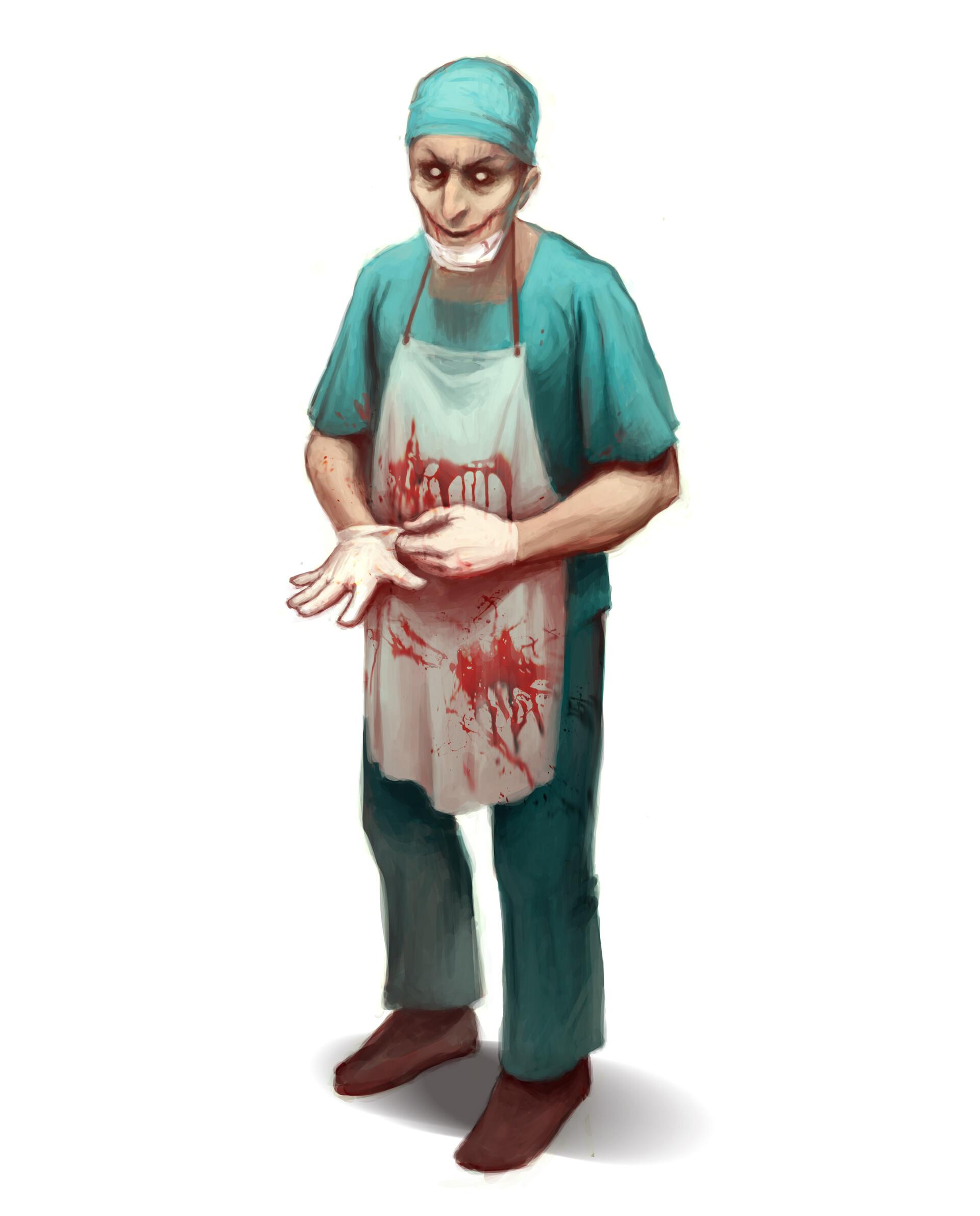 Artstation The Bloody Surgeon Lidija Raletic