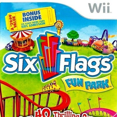 Darlene carrasquillo six flags fun park nintendo wii box art