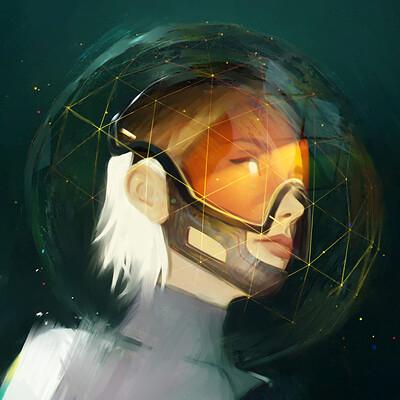 Nandor moldovan space girl nandor moldovan portrait