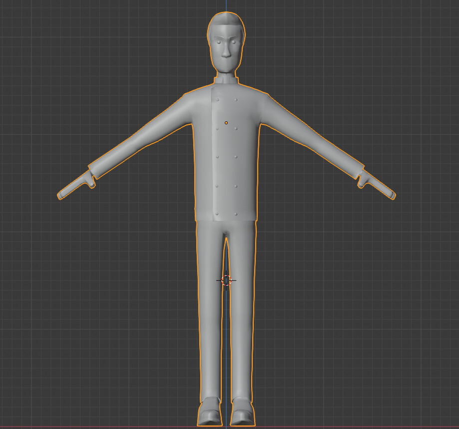 Next was the angry bellhop. Tall, lanky, and always mad! Front view. Tris: 13935