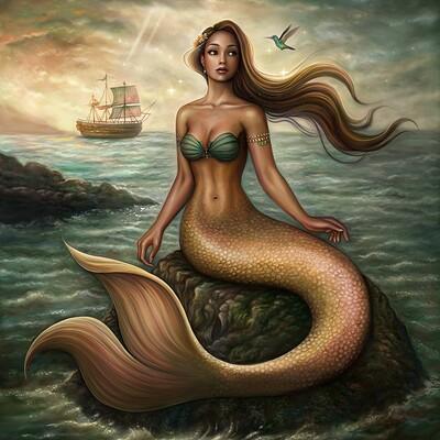 Dimitris karakousis sunset mermaid