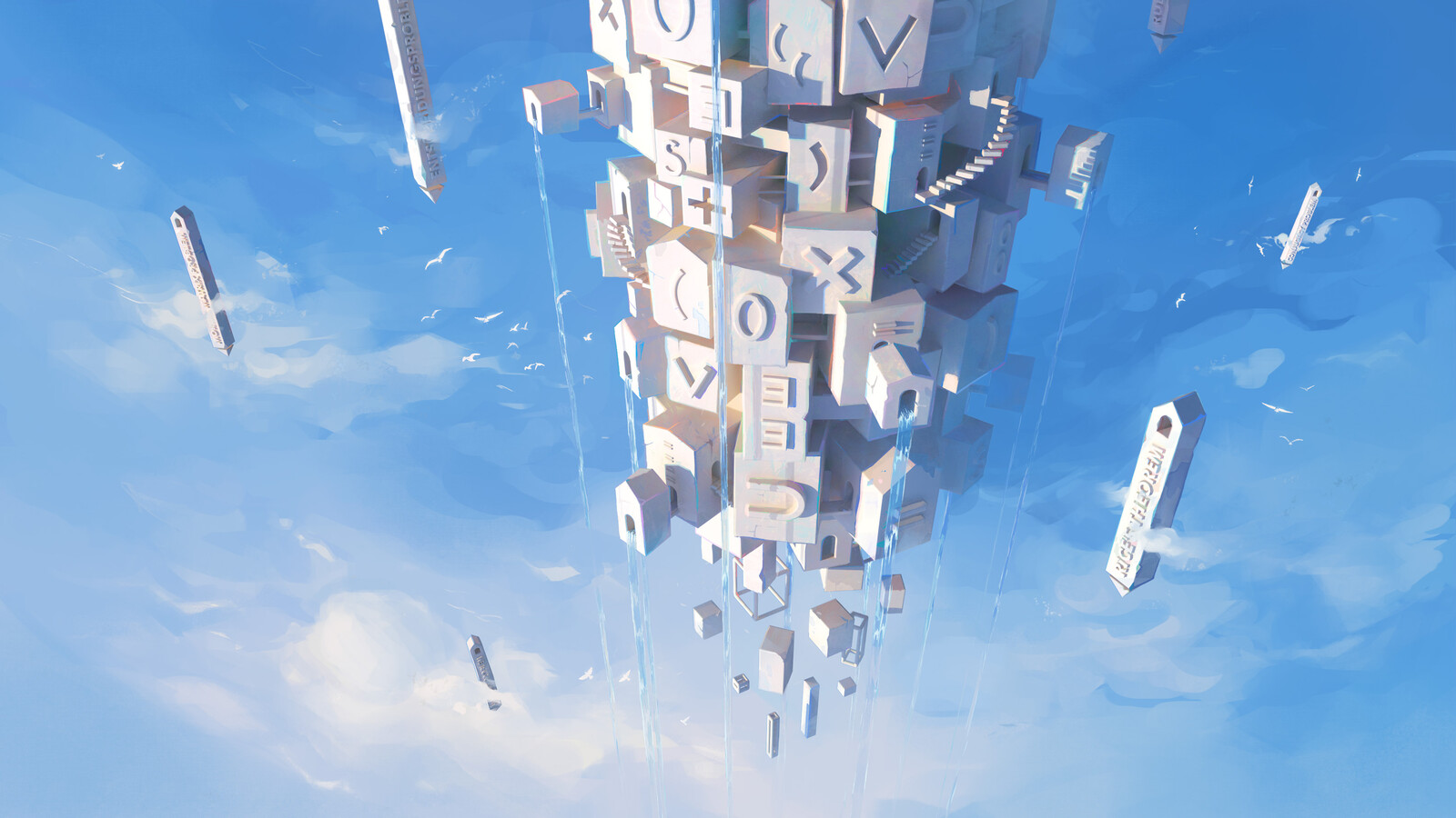 Tower of Math / Gödel's Floating City