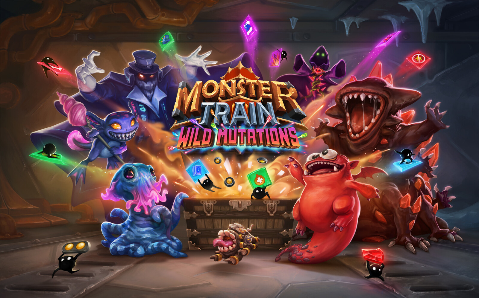 Key art for the Monster Train Wild Mutations DLC