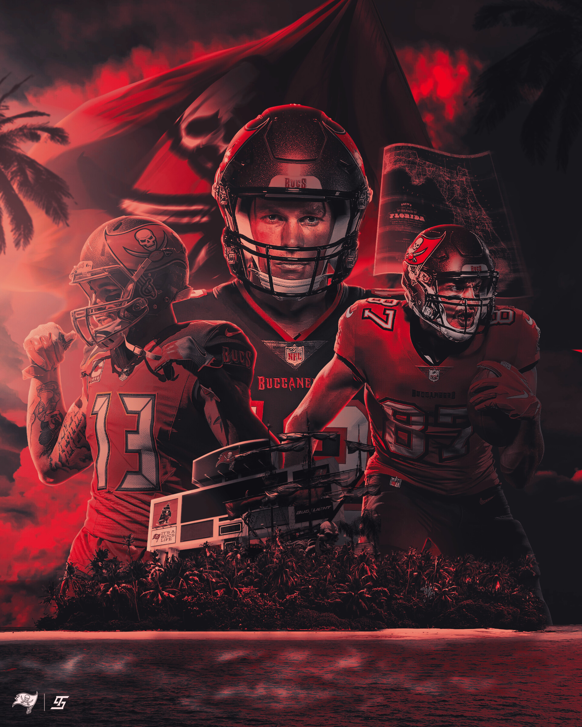 artstation tampa bay buccaneers artwork terry soleilhac artstation tampa bay buccaneers