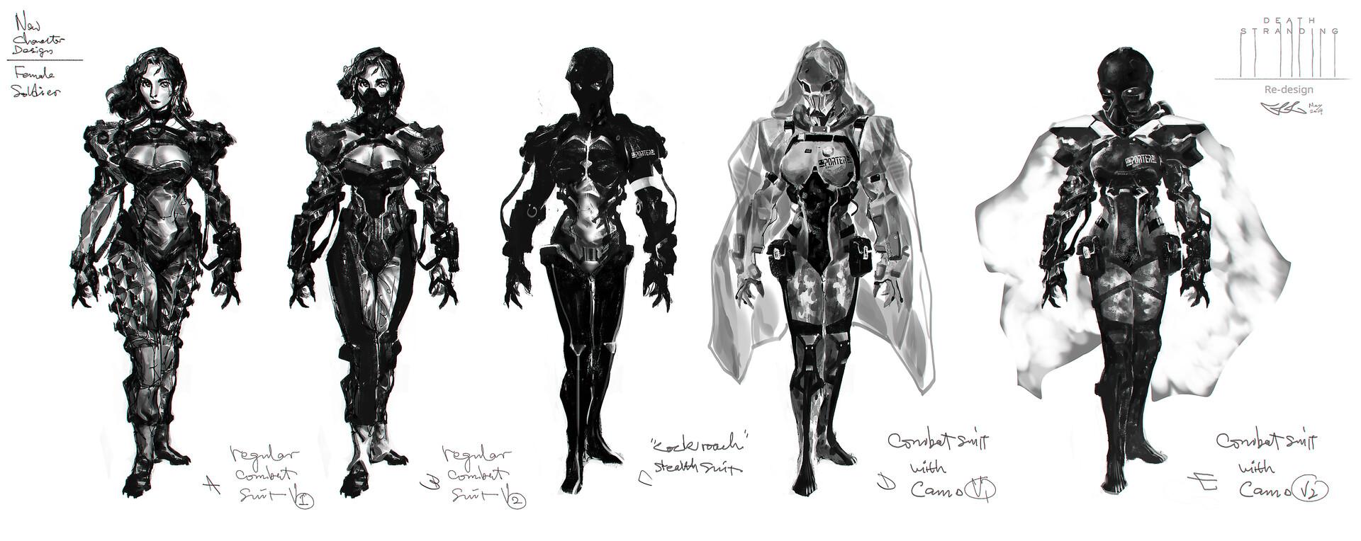 Female soldier designs