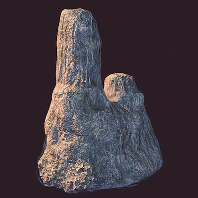 2 Sides Rock 3D Model