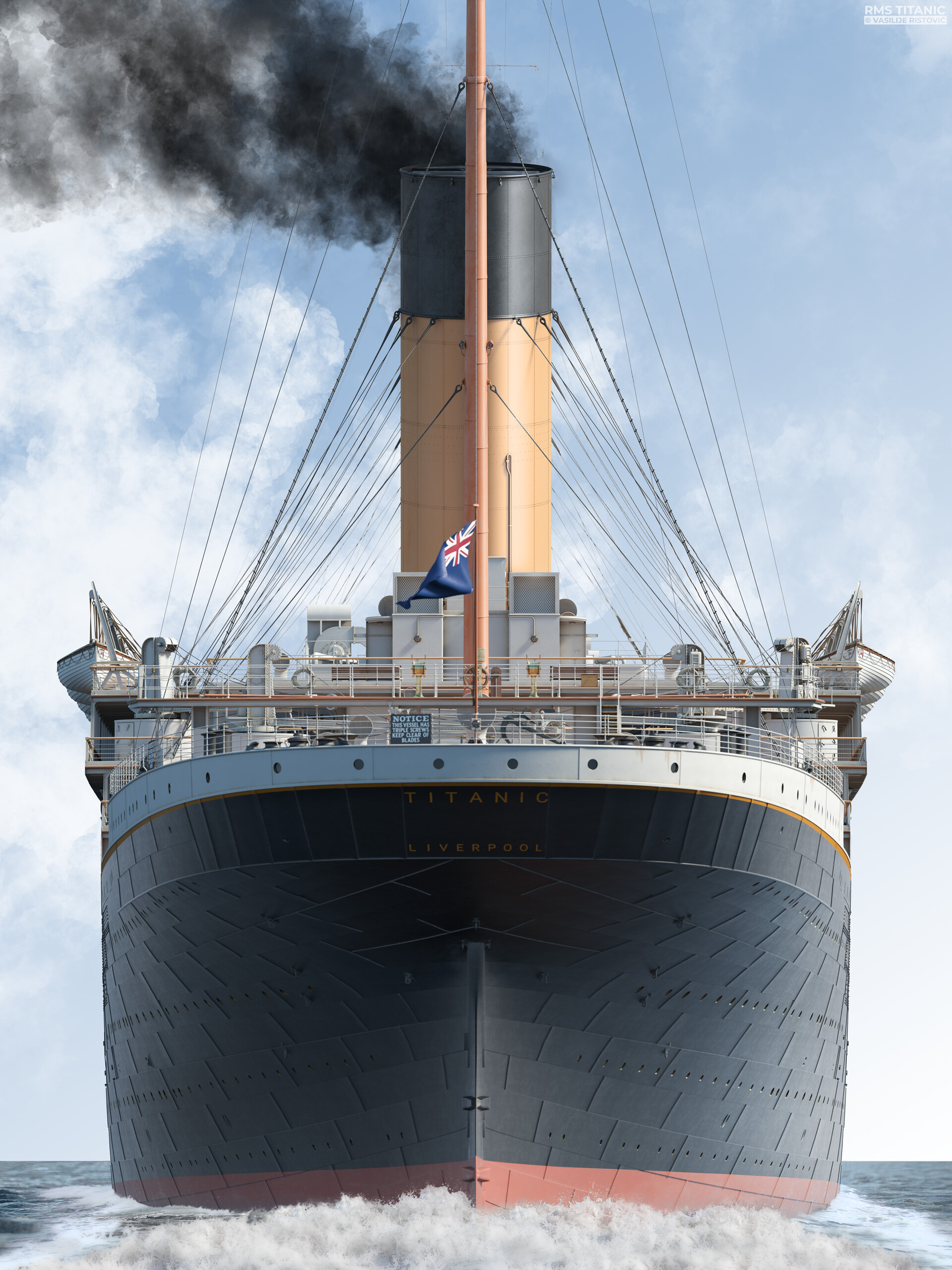 Montage Titanic Trumpeter 1/200 - Page 10 Vasilije-ristovic-rms-titanic-stern-view-web