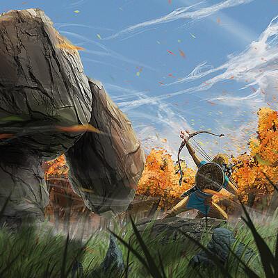 Theo legouis fanart zelda paysage