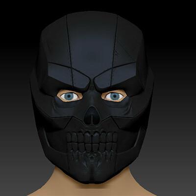Artstation Blackmask Birds Of Prey Batman Dc Harley Quinn Movie Replica 3d Print Model Helmet Black Mask Kevin Mckone
