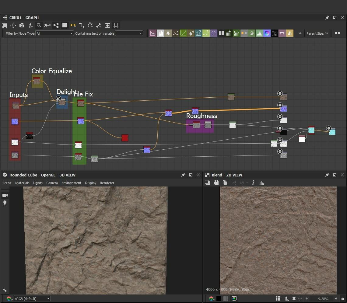 Map tweaking - Tiling, Delighting & creating Roughness
