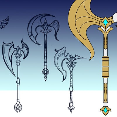 Seraphina Warrior Angel Axe Design