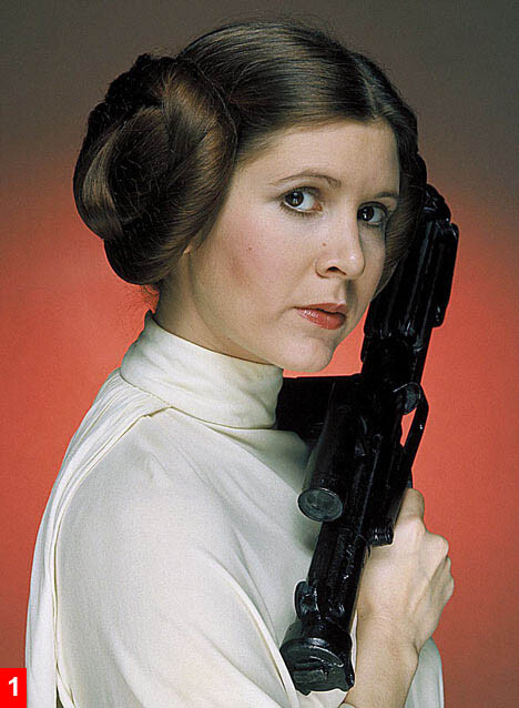 Original image of Carrie Fisher found using Bing images